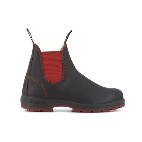 Two-Tone Classic Chelsea Boots Adulte 1316 Black Leather Red