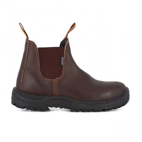 Safety Chelsea Boots 122 Chestnut Brown