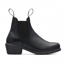 Women's Series Heeled Chelsea Boots 1671 Black Leather