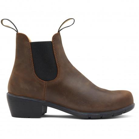 Women's Series Heeled Chelsea Boots 1673 Antique Brown