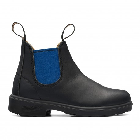 Kids Chelsea Boots 580 enfant Black Leather Blue