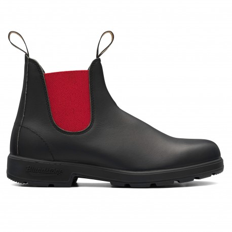Original Chelsea Boots Adulte 508 Black Leather Red